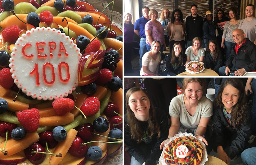 CEPA celebrating its 100th study abroad group for 2017 from Davenport University
